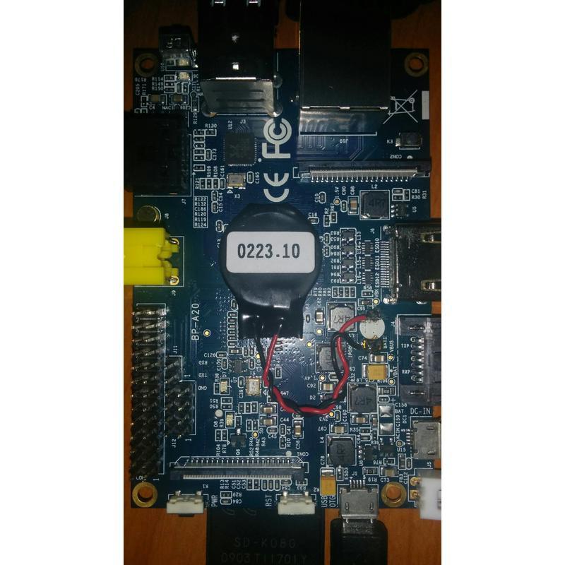 Batterie CR2032 pour RTC