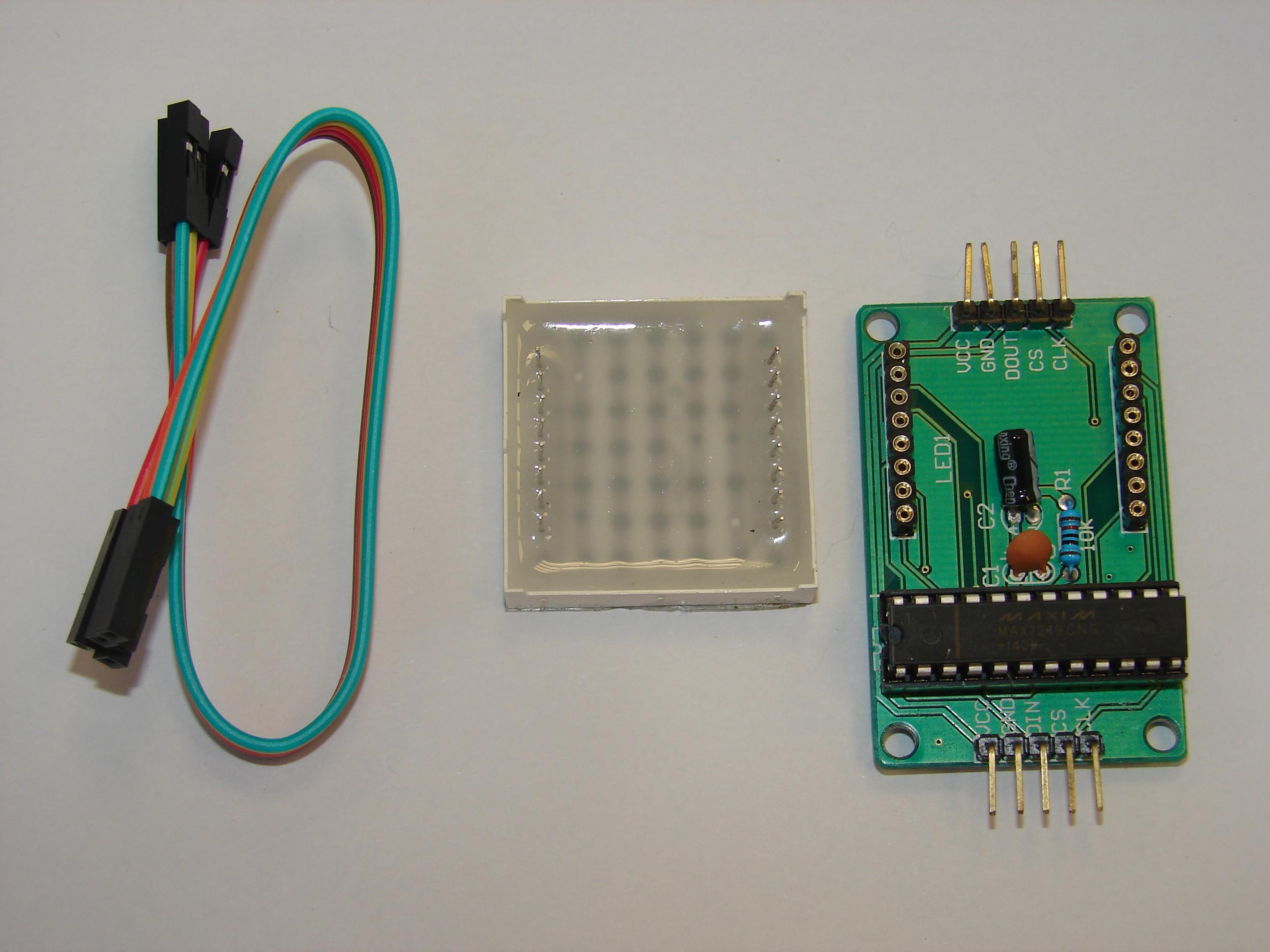 Module d'affichage à matrice de points 8x8 SPI et MAX7219
