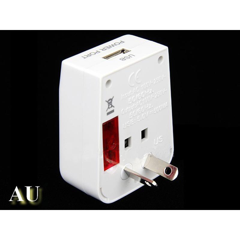 Adaptateur universel voyage de prise de courant + port USB 5V