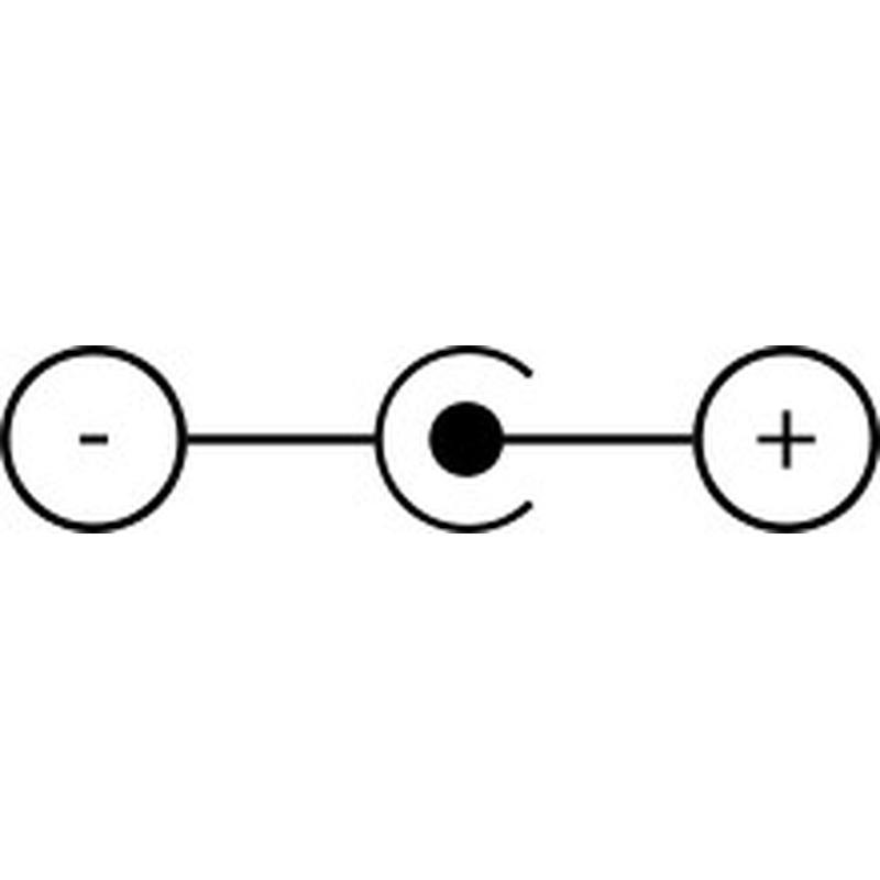 Boîtier support pour 1 pile 9V 6LR61 avec interrupteur