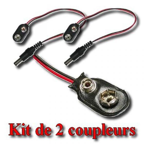 Coupleur de pile 9V avec Jack 5,5/2,1mm pour Arduino