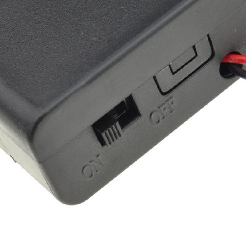 Boîtier support pour 6 piles 1.5V R6/AA avec interrupteur