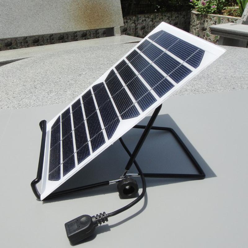 Support réglable à 180° pour panneau solaire 5V