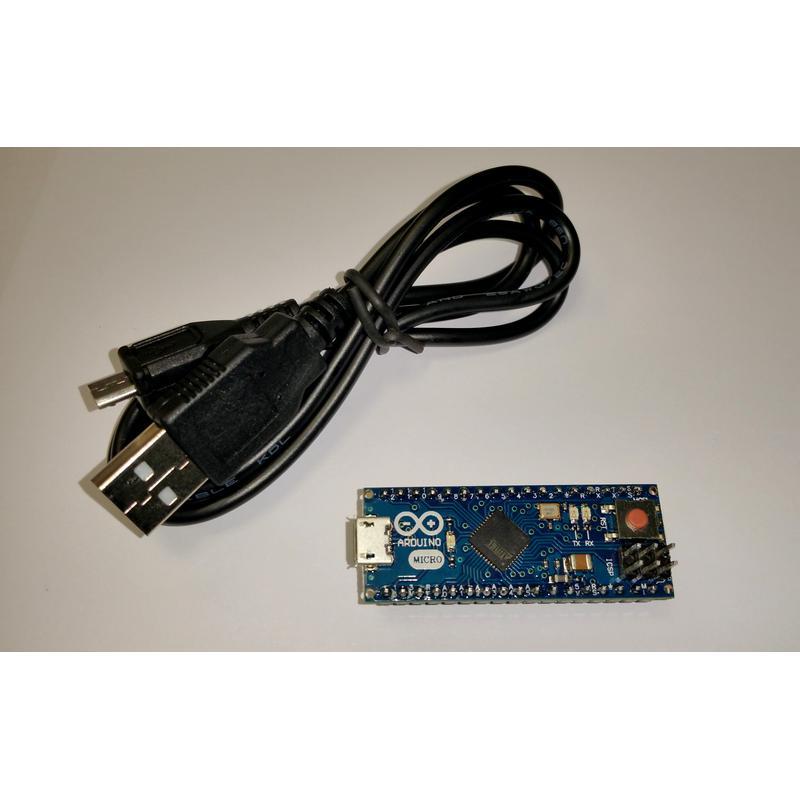 Arduino Micro USB ATMEGA32U4 + Reset + ICSP (Compatible Leonardo)