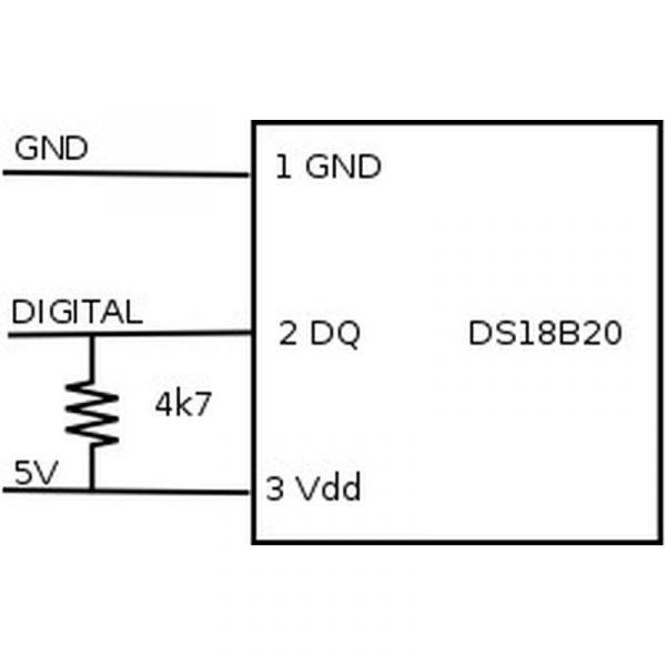 Capteur de température DS18B20 WaterProof
