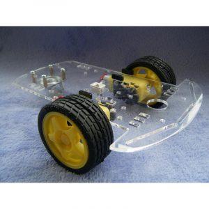 Plate-forme en acrylique pour robotique économique à 3 roues.