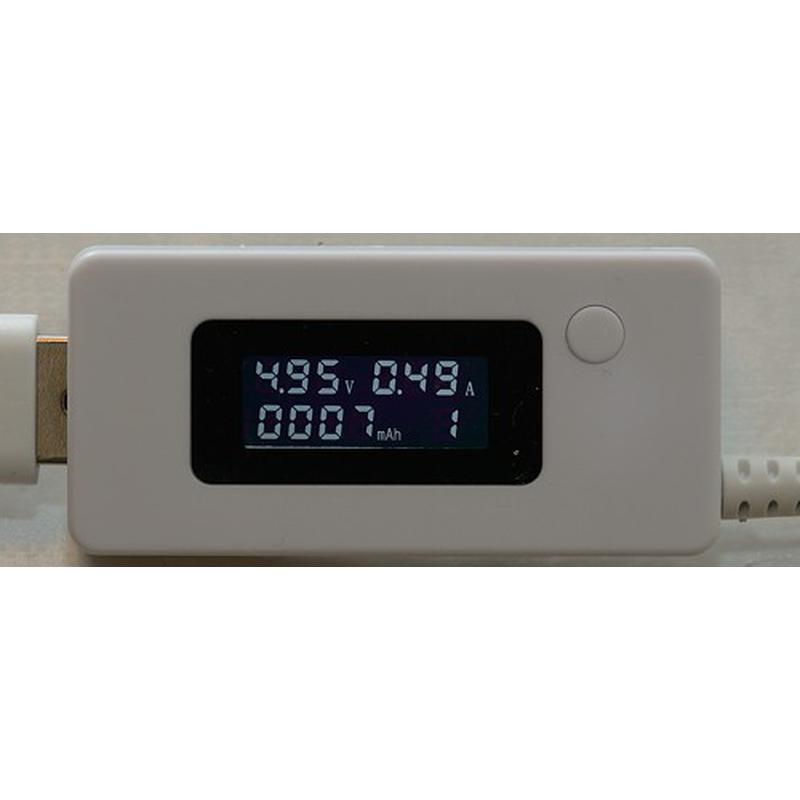 Ampermetre Voltmètre USB avec affichage LCD + Charge 1A/2A