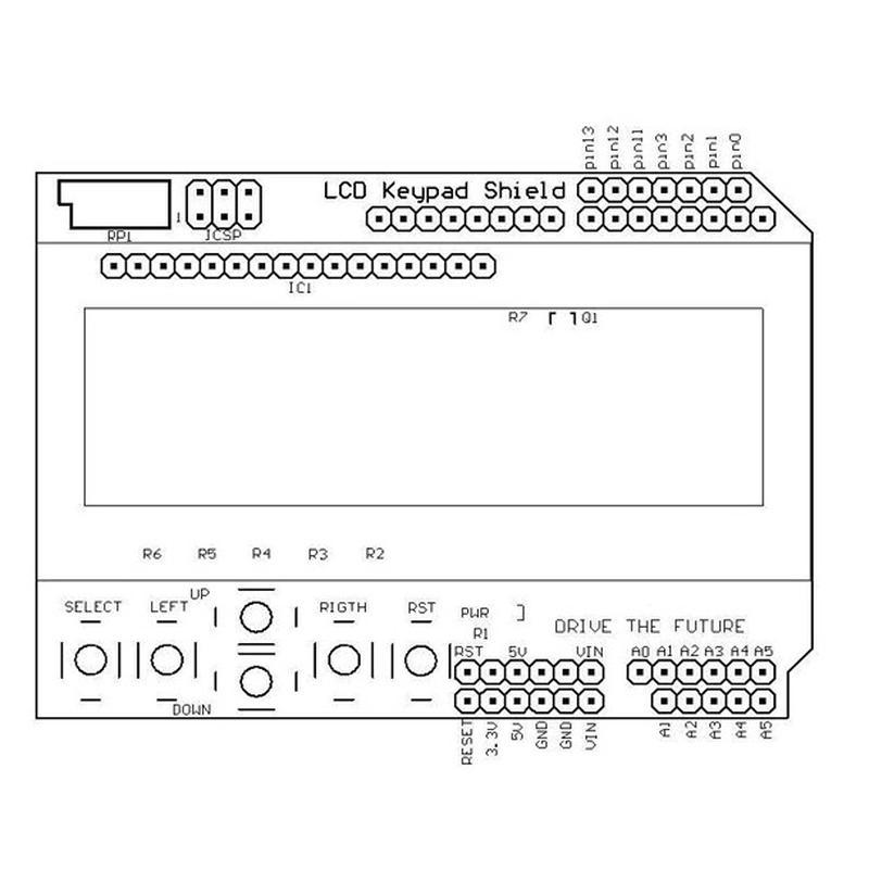 Module Arduino LCD1602 Keycap Shield