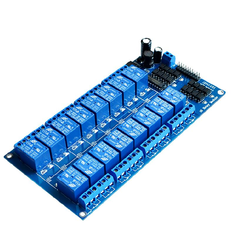 Modules 16 relais 5V 12V