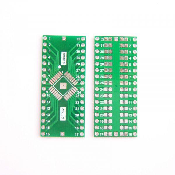 PCB QFP32 vers DIP32