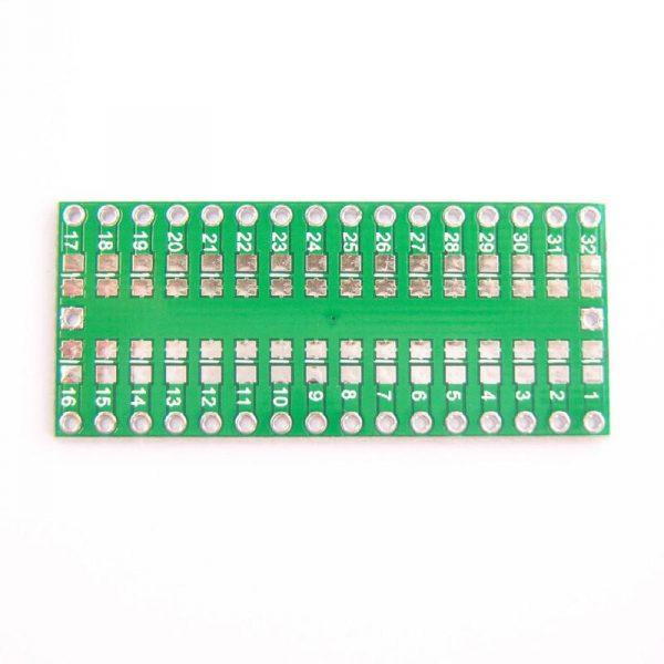 PCB QFP32 vers DIP32. ATmega 328p vers Breadboard