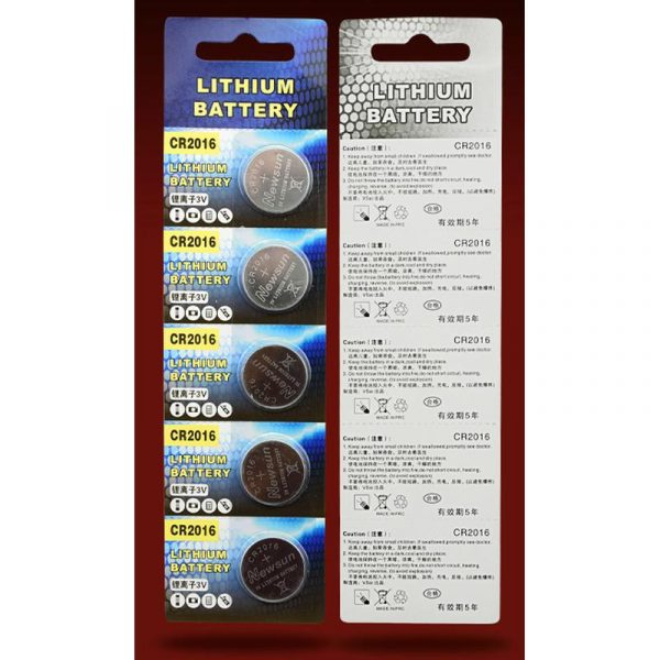 Lot de 5 piles 3V CR2016 Lithium