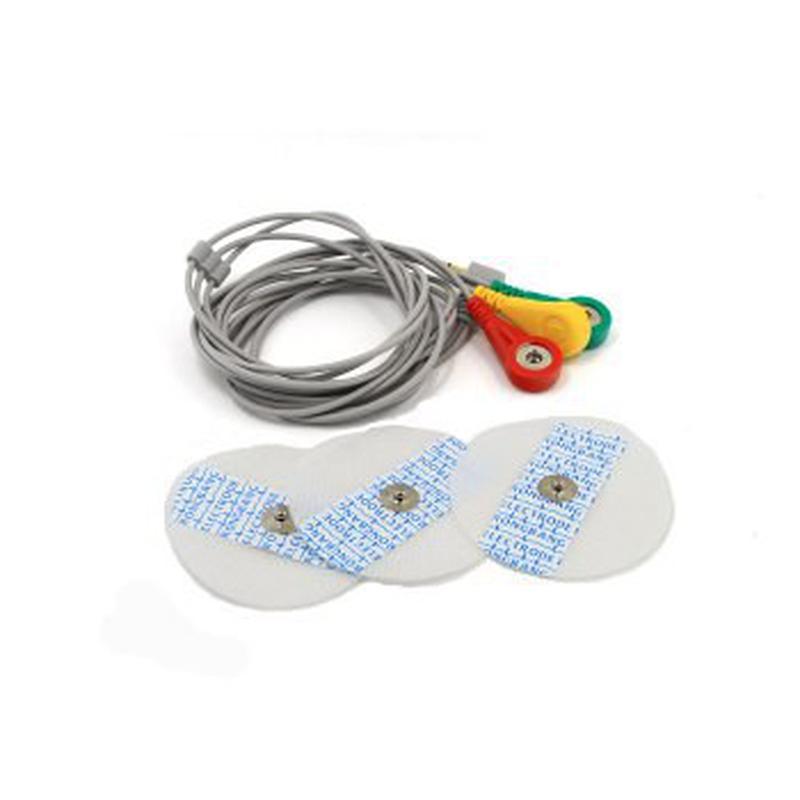 Kit AD8232 Moniteur de Fréquence Cardiaque + 20 électrodes en non-tissé de 50mm de diamètre