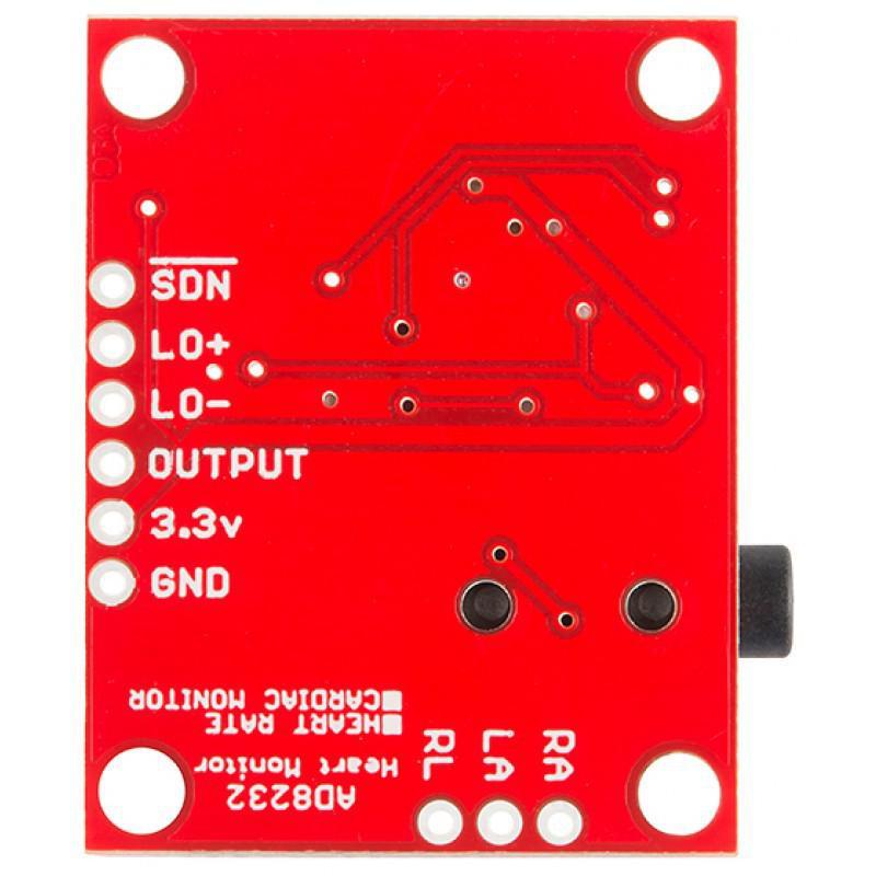 Kit AD8232 Moniteur de Fréquence Cardiaque + 10 électrodes en non-tissé de 50mm de diamètre