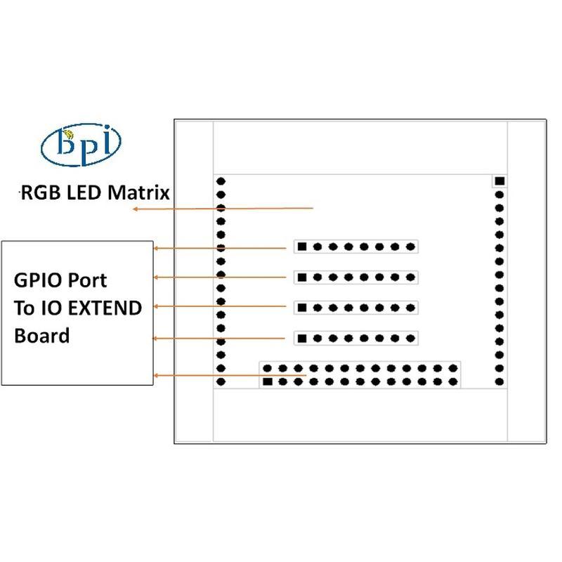 Matrice Led RGB Banana PI BPI-8x8RGB-LED