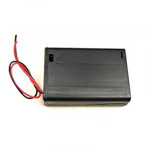 Boîtier support pour 2 piles 1.5V R6/AA avec interrupteur