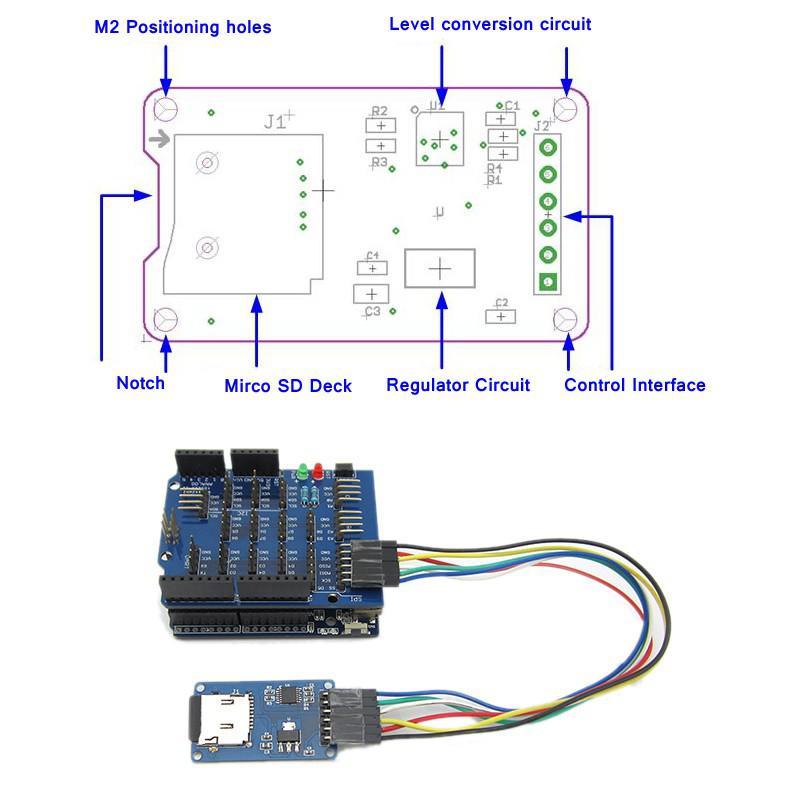 Module d'interfaçage pour carte Micro SD