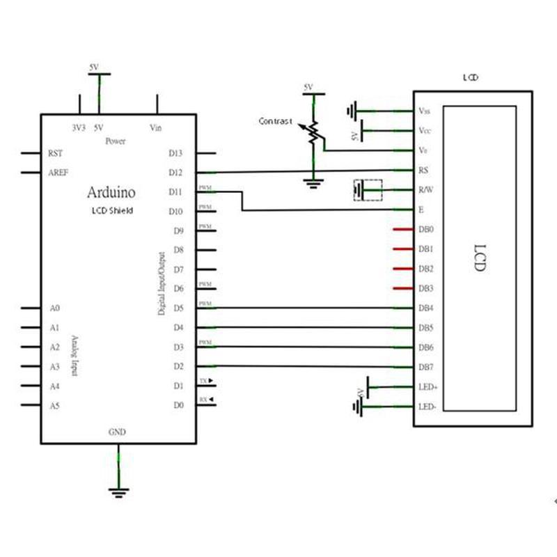 AFFICHEUR CARTE LCD 2X16 I2C BLEU
