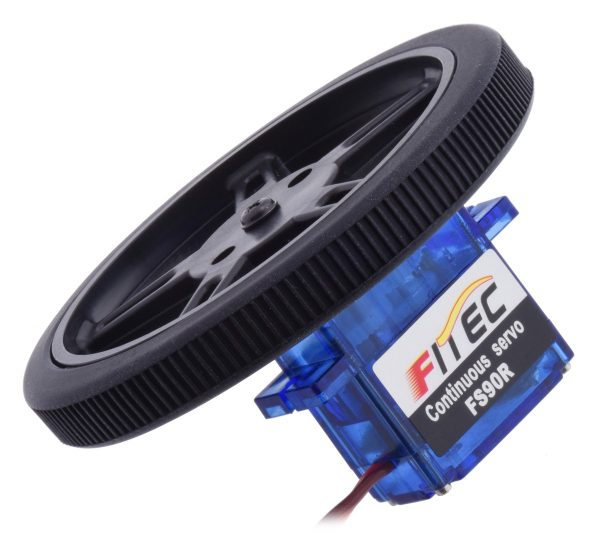 Roue FEETECH diamètre 60 x 8mm - noir - pour ServoMoteur FS90R et moteur FS90
