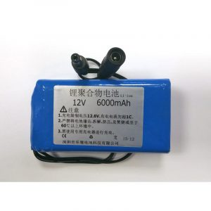 Batterie 12V Li-ion, rechargeable, 6000mAh