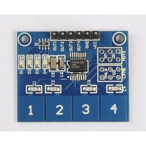 Module de 4 interrupteurs tactiles numériques capacitifs TTP224
