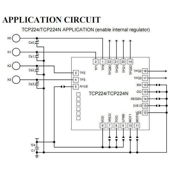 Application circuit TTP224