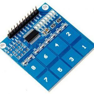Module 8 interrupteurs tactiles capactitifs TTP226
