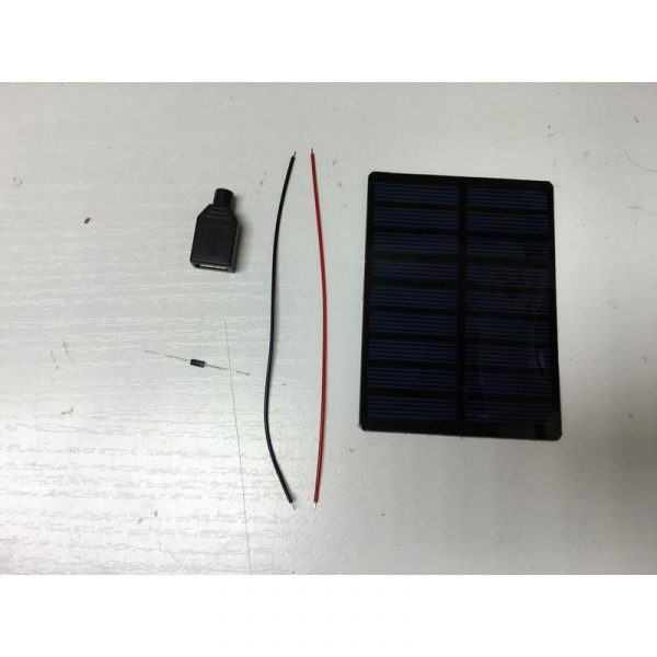 Chargeur solaire 5V - 200mA