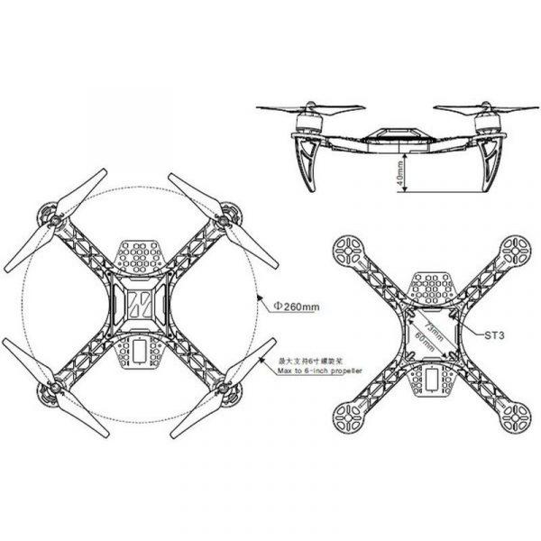 Drone quadricoptère Dia 260mm - Kit éducatif à monter