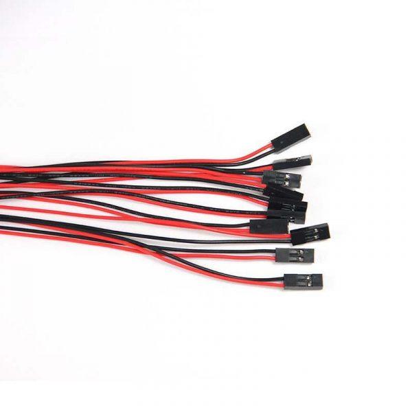 Câbles (Dupont) 2 fils 70cm avec connecteur F/F