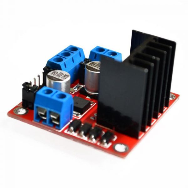 L298N (PCB Rouge) Double Pont-H pour le contrôle de moteur continu