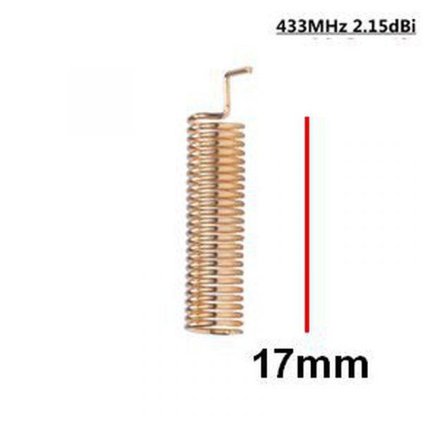 Antenne ressort 433Mhz courte.