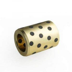 Douille de guidage en laiton-graphite, dia int 8mm, auto-lubrifiante