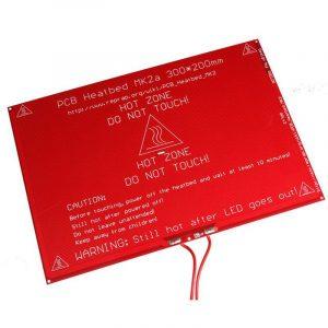 Lit chauffant PCB Heatbed MK2B (rouge)