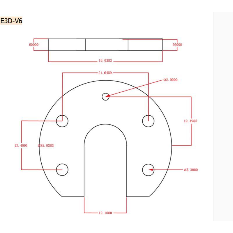 Fixation bout chaud, tête imprimante 3D Reprap Kossel E3D V6