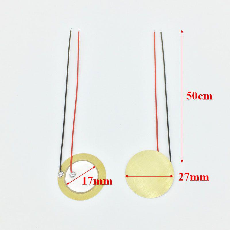 Transducteur piézo céramique 27mm sans électronique
