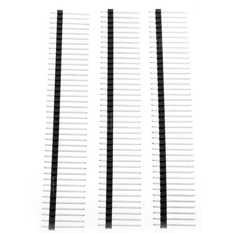 (3 Pcs) Pin Header 25mm H, 40 Broches droites, pas des pins : 2,54 mm