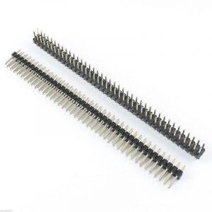 (3 Pcs) Pin Header 11.5mm H, 2x40 Broches droites, pas des pins 2,54 mm