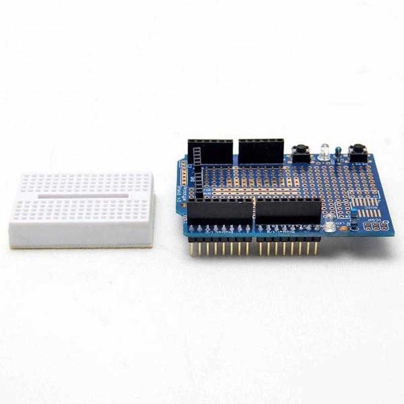 Shield Arduino UNO avec mini breadboard