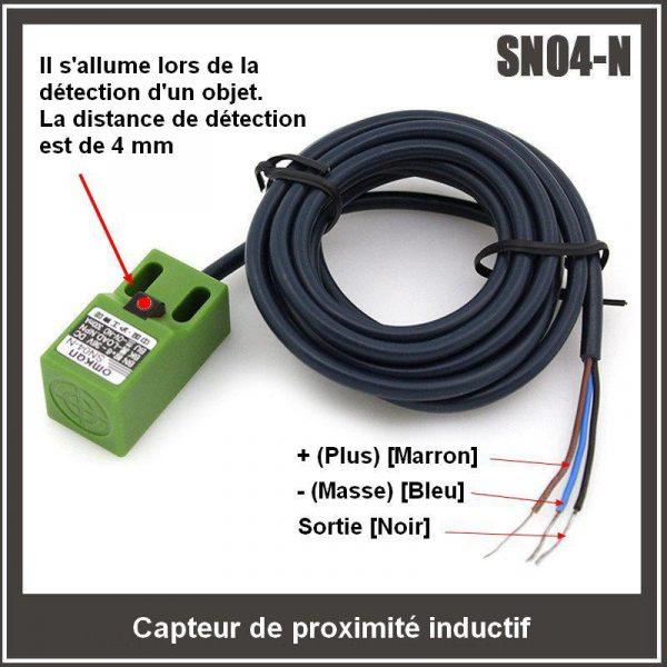 SN04-N Capteur de proximité inductif 4mm