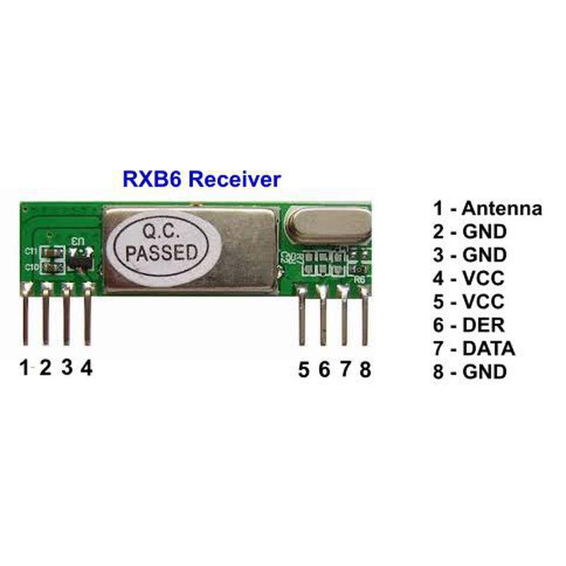 RXB6 - Récepteur Superhétérodyne 433 Mhz