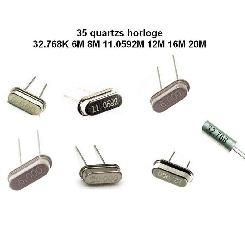 35 Pcs - Quartz horloge (32.768K 6M 8M 11.0592M 12M 16M 20M)