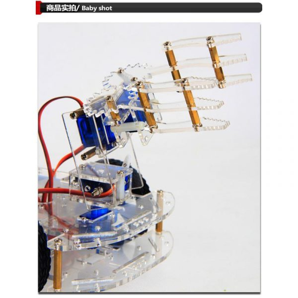 Kit de construction en acrylique, d'un bras de robot 4 axes