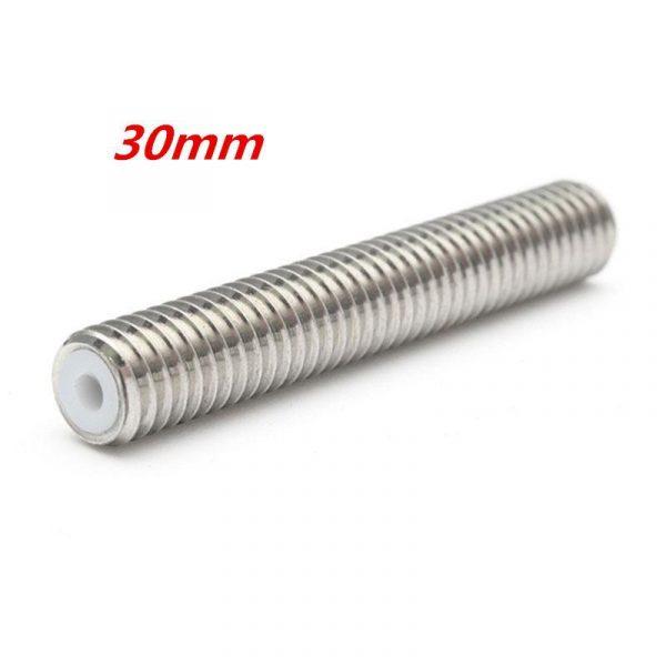 Tube droit M6x30mm + Tube Téflon 1.75 pour extrudeuse MK8