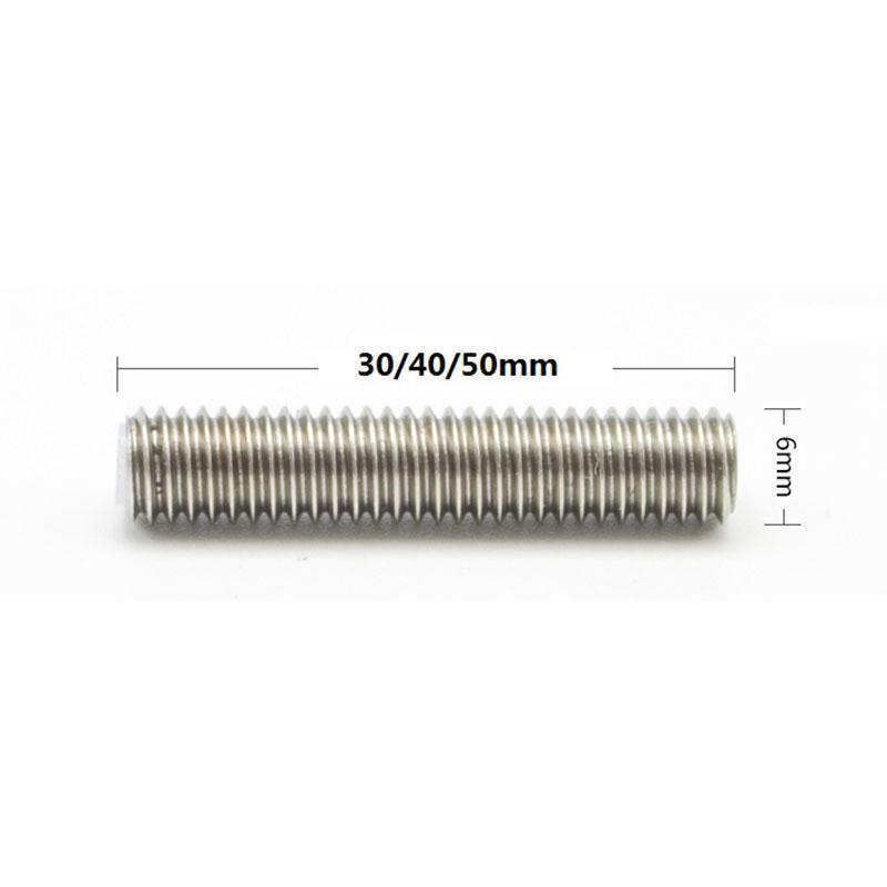 Tube droit M6x50mm + Tube Téflon 1.75 pour extrudeuse MK8