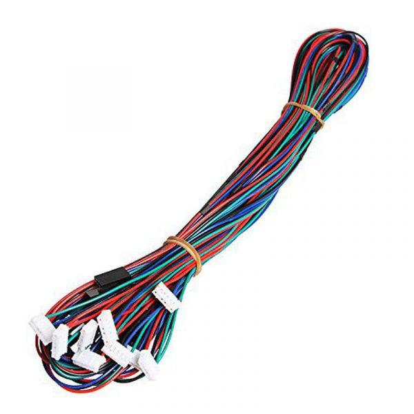 Câble 1000mm avec connecteur JST 6 broches vers Dupont 4 broches pour moteur pas à pas