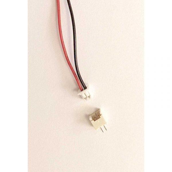 Set Connecteur 2 Pins - malle pas 1.25mm fil 150mm + Embase femelle travesante à souder