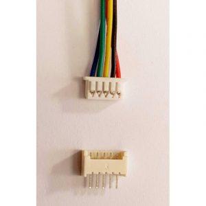 Set Connecteur 4 Pins - malle pas 1.25mm fil 150mm + Embase femelle travesante à souder