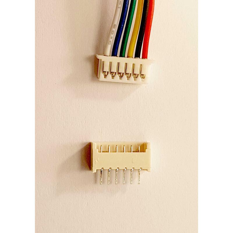 Set Connecteur 5 Pins - malle pas 1.25mm fil 150mm + Embase femelle travesante à souder