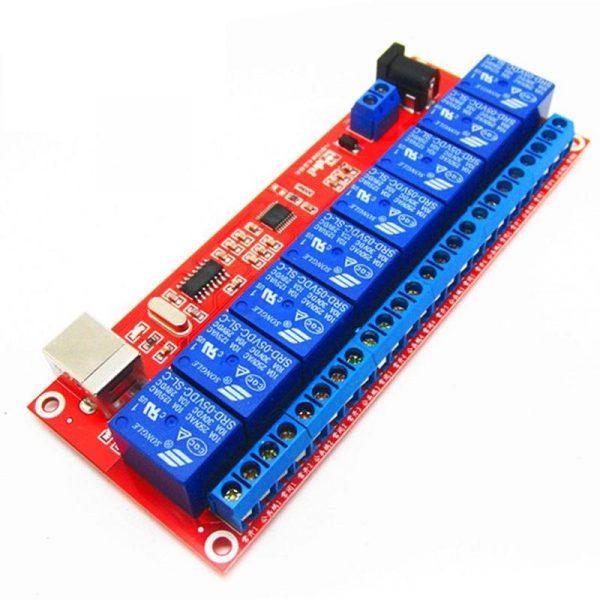 Module USB - 8 Relais 250V 10A